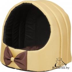 Домик для кошек и собак Exclusive M желтый