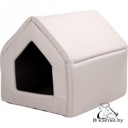 Домик-будка для кошек и собак Exclusive L бежевый