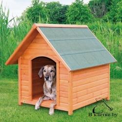 Конура для собаки с остроконечной крышей Trixie natura S
