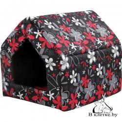 Домик-будка для кошек и собак Crazy M красный