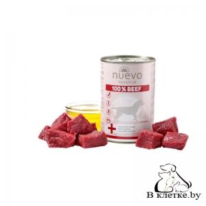 Консервы для собак Nuevo Sensitive 100% Beef, 400гр