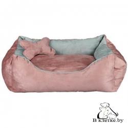 Лежак Trixie Chippy розовый/серый