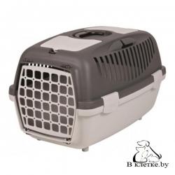 Переноска Trixie Traveller Capri II для мелких животных до 8кг серый/оранжево-розовый