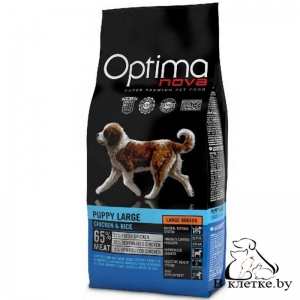 Корм Optima Nova Puppy Large Chiken & Rice