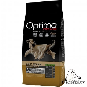 Корм Optima Nova Adult Medium Chicken & Potato