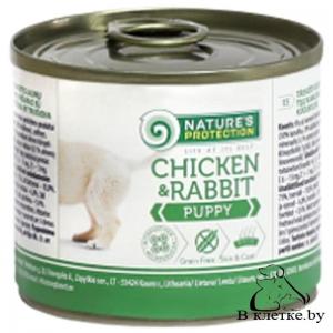 Консервы для щенят NP Puppy Chicken & Rabbit, 400гр