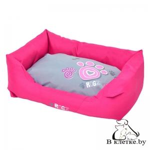 Лежак с подушкой Rogz Spice Pod Pink Paw