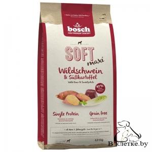 Полувлажный корм Bosch Soft Maxi Кабанчик с Бататом