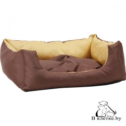 Лежак квадратный с подушкой Exclusive S желтый