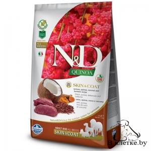 Farmina N&D Grain Free Quinoa Dog Skin & Coat Оленина