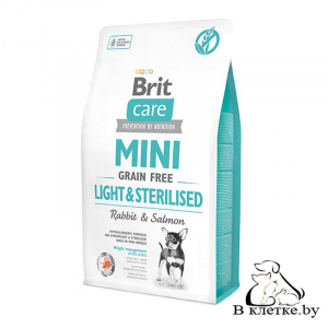 Диетический корм Brit Care Mini GF Light & Sterilised