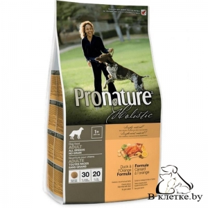 Корм Pronature Holistic Adult All Breeds Утка и Апельсин