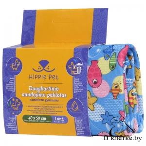 Пеленки многоразового использования для животных Happy Pet с рыбками