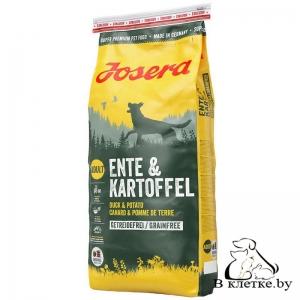 Корм собакам с чувствит. пищеварением Josera Ente & Kartoffel