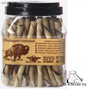 Телячий твистер из кожи и мяса туба Beef Zone, 70 шт