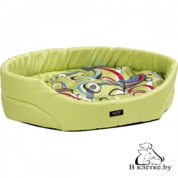 Лежак овальный для кошек и собак Crazy L зеленый