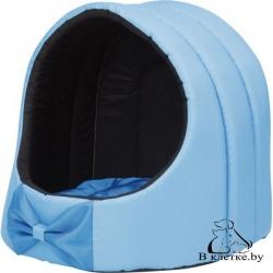Домик для кошек и собак Exclusive M голубой