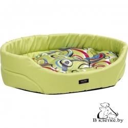 Лежак овальный для кошек и собак Crazy M зеленый