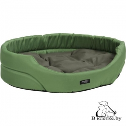 Лежак овальный для домашних питомцев Exclusive S зеленый
