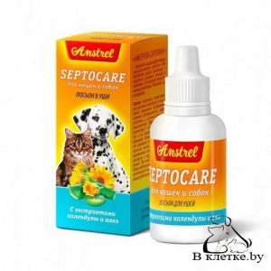 Лосьон в уши для кошек и собак Amstrel Septocare