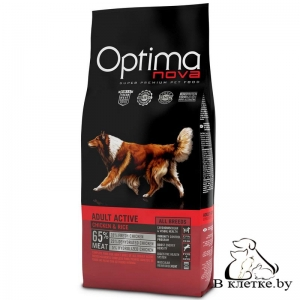 Корм Optima Nova Adult Active Chiken & Rice