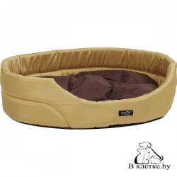 Лежак овальный для домашних питомцев Exclusive S желтый