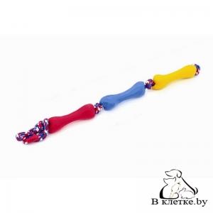 Игрушка для собак Lilli Pet Три косточки на веревке