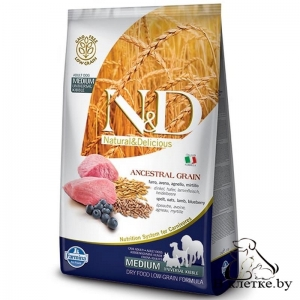 Farmina N&D Low Grain Adult Dog MEDIUM Ягненок и Черника