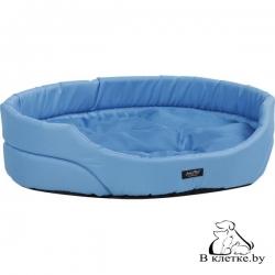 Лежак овальный для домашних питомцев Exclusive L голубой