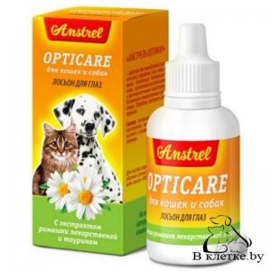Лосьон для глаз кошек и собак Amstrel Opticare
