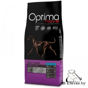Корм Optima Nova Adult Giant Chiken & Rice