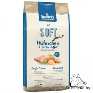 Полувлажный корм Bosch Soft Junior Цыпленок с Бабатом