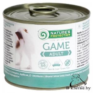 Влажный корм для собак Nature's Protection Adult Game, 200гр