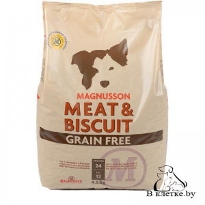 Беззерновой корм Magnusson Meat & Biscuit Grain Free