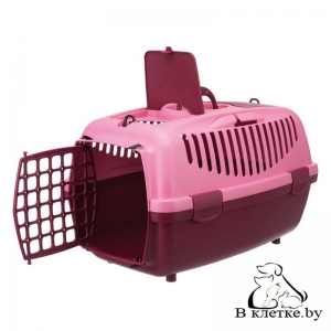 Переноска для мелких животных до 8кг Trixie Traveller Capri II розовая