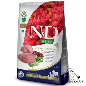 Farmina N&D Grain Free Quinoa Dog Weight Management Ягненок