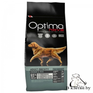 Корм Optima Nova Adult Obesity Chiken & Rice