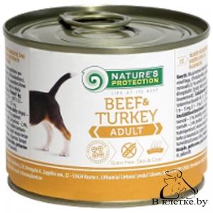 Влажный корм для собак NP Adult Beef&Turkey, 400гр