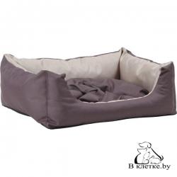 Лежак квадратный с подушкой Exclusive S бежевый