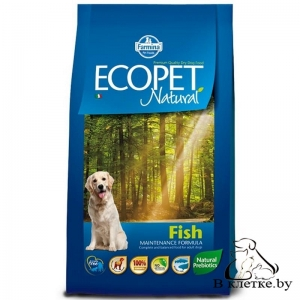 Корм Farmina Ecopet Natural Adult MEDIUM Рыба