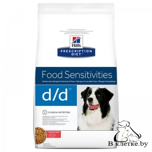 Hill's Prescription Diet d/d Food Sensitivities Лосось и Рис