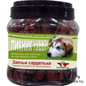 Заячьи сардельки GreenQzin ПИКНИК rabbit