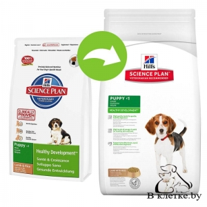 Hill's Science Plan Puppy Healthy Development Medium Ягненок и Рис