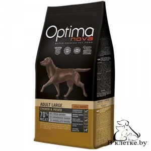 Корм Optima Nova Adult Large Chicken & Potato