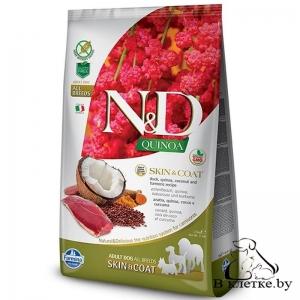 Farmina N&D Grain Free Quinoa Dog Skin & Coat Утка