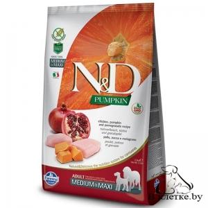Farmina N&D Grain Free Pumpkin Adult Dog MEDIUM & MAXI Курица и Гранат