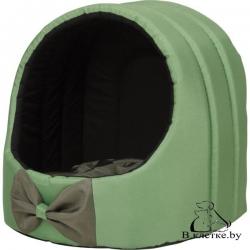 Домик для кошек и собак Exclusive M зеленый