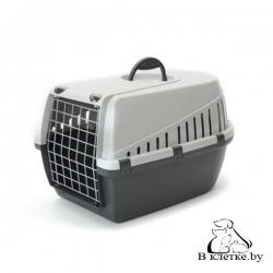 Переноска Savic Trotter 2 для кошек темно-серая/серая