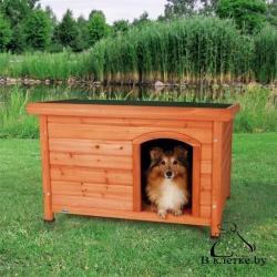 Конура для собаки с плоской крышей Trixie natura L рыжий/белая