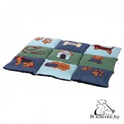 Лежанка для кошек и собак Trixie Patchwork-80 серая